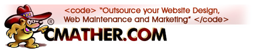 Outsource your website design, maintenance and marketing – Contact CMather Help Desk