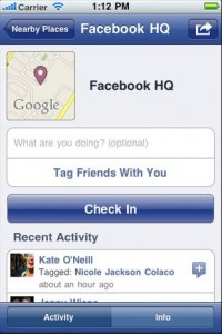 Facebook Places - Location Based GPS