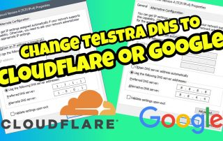 How to Update Telstra DNS to point to Cloudflare or Google